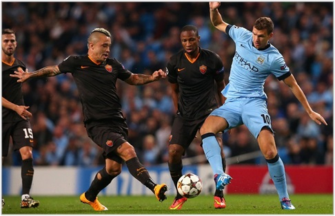 manchester city roma 2014 champions league