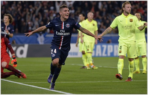 psg barcelona 2014 champions league
