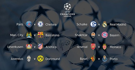Calendario Uefa Champions League.Fixture Y Calendario De Los Octavos De Final De La Uefa