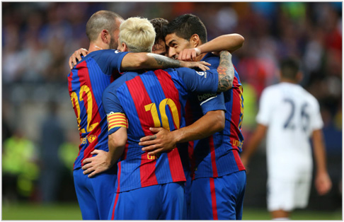 barcelona leicester 2016 international champions cup
