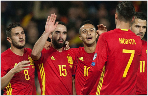 espana macedonia 2016 eliminatorias