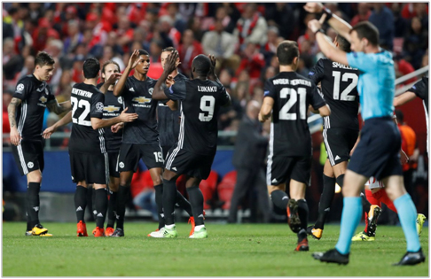 benfica manchester united 2017 champions league