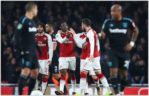 arsenal west ham 2017 carabao cup