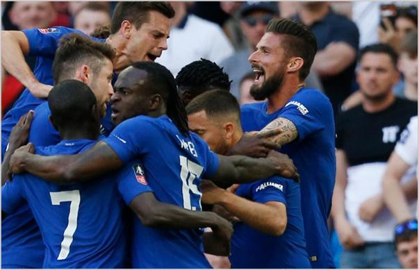 chelsea manchester united 2018 fa cup