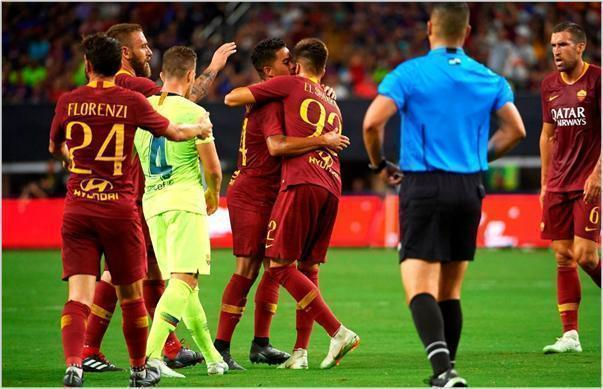 barcelona roma 2018 international champions cup