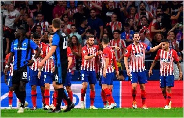 atletico de madrid club brujas 2018 champions league