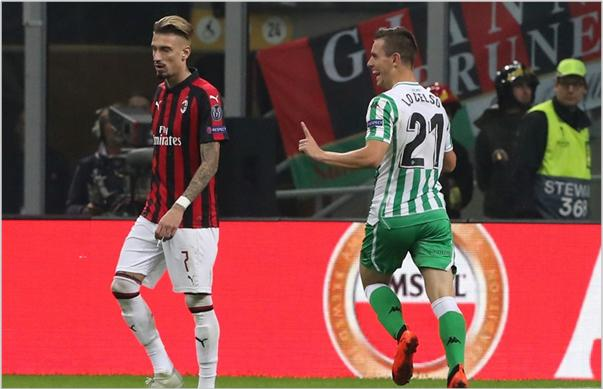milan betis 2018 europa league