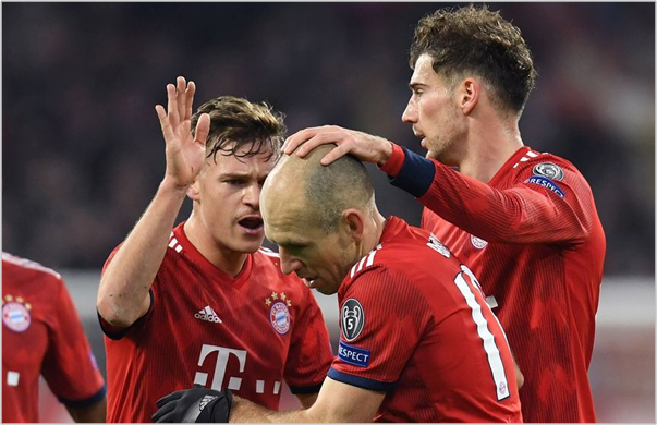 bayern munich benfica 2018 champions league
