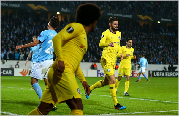 malmo chelsea 2019 europa league