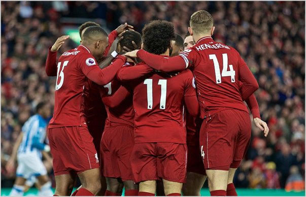 liverpool huddersfield 2019 premier league