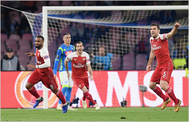 napoli arsenal 2019 europa league
