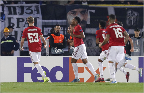 partizan manchester united 2019 europa league